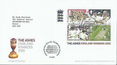 2005 GB First Day Cover FDC Cricket The Ashes England Winners  Edinburgh (1680)