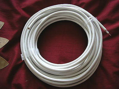 13 metres of White PF100 Coaxial Cable