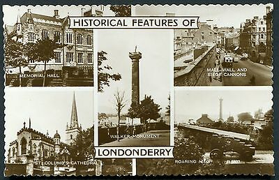 Co. LONDONDERRY - REAL PHOTO MULTIVIEW PCARD - PUBLISHED BY VALENTINES 1940s