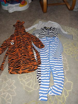 Sleepwear bundle 12-18 months with 3 new sleepsuits and dressing gown