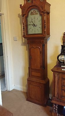 Antique Oak Grand Father Clock
