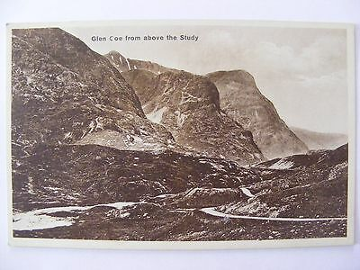Postcard - Glen Coe from above the Study