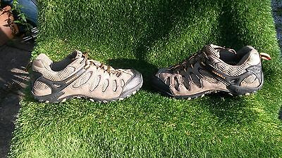 Merrell Men's Brown Leather/Textile Walking/Hiking Shoes. Size 10.5. Used. VGC