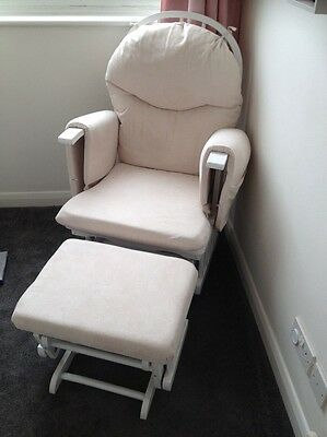Reclining Glider Nursing Chair and Stool