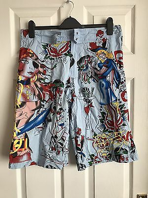 "Ed Hardy Men's Board Shorts Size XL 34"" Waist"