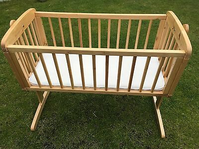 Baby's Swinging Mothercare Crib with Mattress