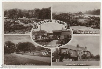 Staffordshire  Postcard Cannock Chase Milford 5  Picture Real Photo Multi Card
