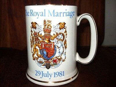 Marriage of Prince Charles & Lady Diana Spencer Wood & Sons Commemorative Mug