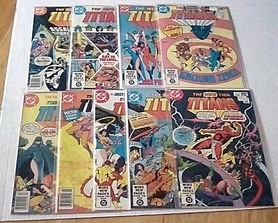 The New Teen Titans ( Lot of 9 ) DC Comic Books