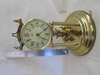 Vintage Kundo German Dome Clock with Floral face - for parts or repair