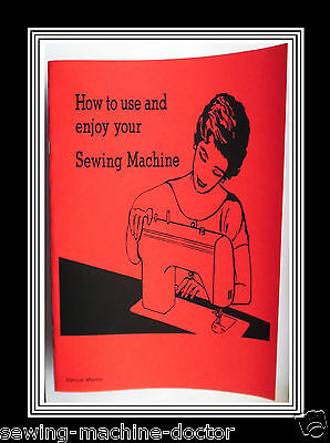 Models 687 & 891 Jones Brother  sewing machine instruction Manual Booklet