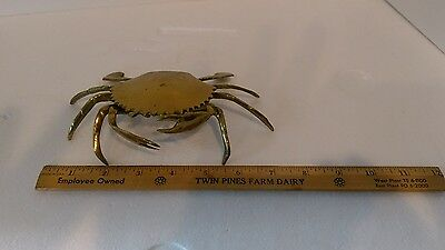 Crab Ashtray or Keepsake Shell in Brass