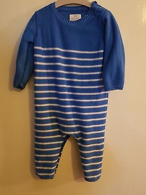 next 6-9 months baby boys knitted romper