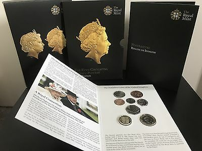 Fifth 5th Circulating Coinage First Edition Uncirculated  Set 2015 Royal Mint