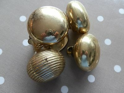 collection of door knobs 2 Brass 2 Brass coloured