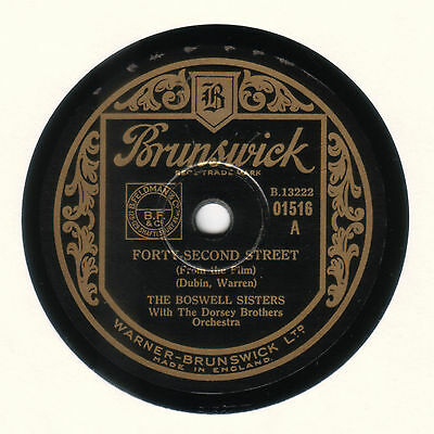 * The Boswell Sisters - Forty-Second Street - Brunswick 01516