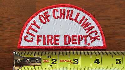 Chilliwack Fire Patch British Columbia Bc Canada Canadian Vintage