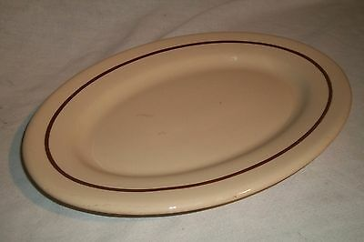 Atq Buffalo China Cafe hotel Restaurant ware Large Serving Plate Oval Platter
