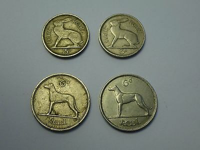 Coin Ireland 6 Pence 1939/1961, 3 Pence 1942/1949
