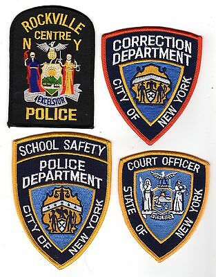 4 New York Law Enforcement Patches *