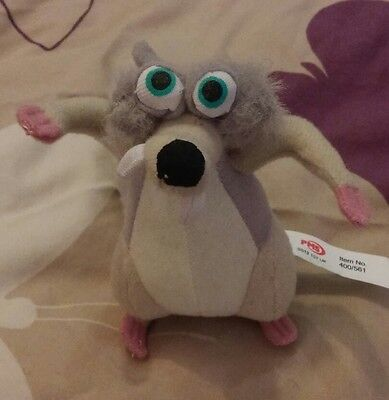 Scrat The Squirrel From Ice Age 3 - Dawn Of The Dinosaurs, Plush Soft Toy