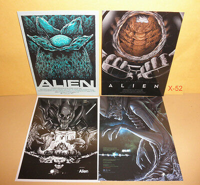 MONDO style ALIEN movie set 4 card cards (postcard size) ridley scott xenomorph