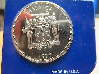 1975 Proof Jamaica 25 Cents Coin World Money Collection Central America US Mint