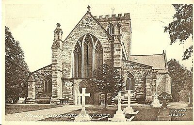 St Asaph Cathedral West Front C1920 Frith Postcard