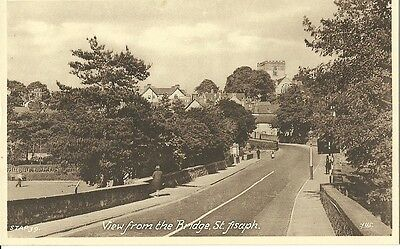 St Asaph View From The Bridge C1920 Frith Postcard