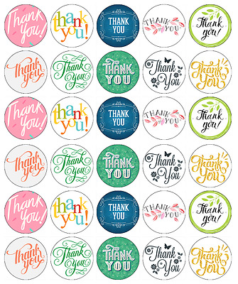 Thank You Mixed Cupcake Toppers Edible Wafer Paper BUY 2 GET 3RD FREE
