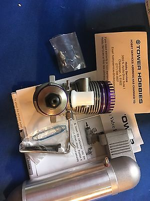 Tower Hobbies Pro 46 Bb Abc C/l Engine Nib With Muffler.