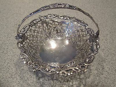 19th C  Sterling Reticulated Basket made by Richard Martin and Ebenezer Hall