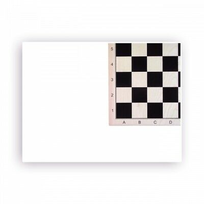 chess board maple printed - with numbers and letters - Width 48 cm - Field size