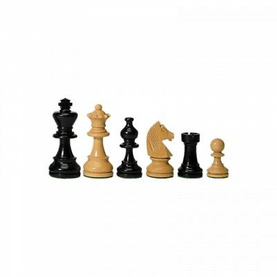 Chess figures - Ebony and Boxwood - 76 mm