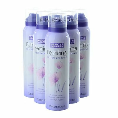 Beauty Formulas Feminine Intimate Deodorant 150Ml 6 Pack