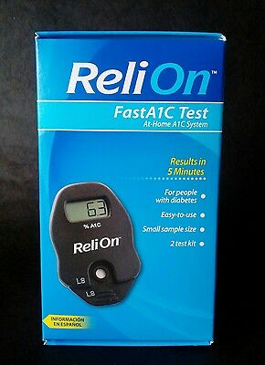 ReliOn FastA1C At-Home Diabetes Test A1C System