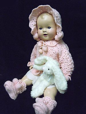 """Dream Baby  - 25"""" Vintage Composite & Cloth  Baby Doll  1930's - 40's  restored!"""