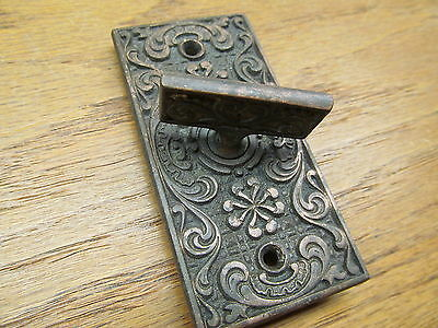 Old Eastlake ?? Brass ?? Bronze ?? Door Bell Plate,handle ...escutcheon Ornate !
