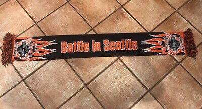 Harley Davidson Limited Edition Battle in Seattle Scarf Acrylic Made In U.K.