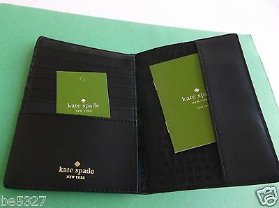 Kate Spade Wellesley Black Passport Holder Card Wallet  NWT