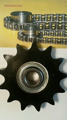 """40BB17H-5/8"""" Bore Idler Sprocket, 17 Tooth, For #40 Roller Chain with Bearing"""