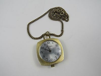 Swiss Made CustomTime Wind Up Necklace Watch Vintage Watch FOR PARTS REPAIR