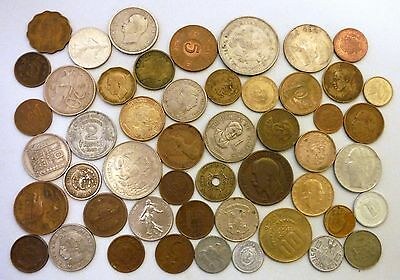 Mixed World Coin Lot of 50 Foreign Assorted Coins / Tokens Old Currency Money #1