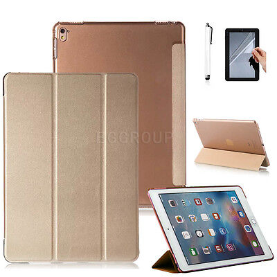 "For Apple iPad 9.7"" 2017 Release Tablet PC Gold Ultra Slim PU Leather Case Cover"
