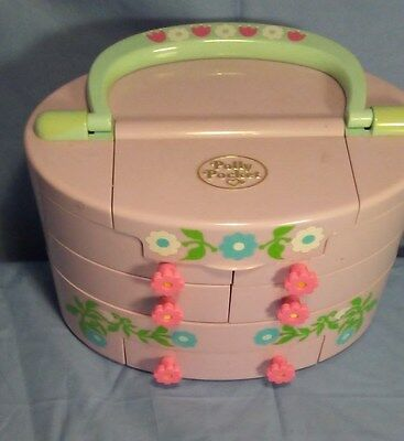 Vintage Polly Pocket Pull Out Playhouse 1991 Bluebird case only.