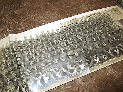 WWI Co D 36th US INFANTRY 1918 LONG PANORAMIC GROUP PICTURE PHOTO 30in