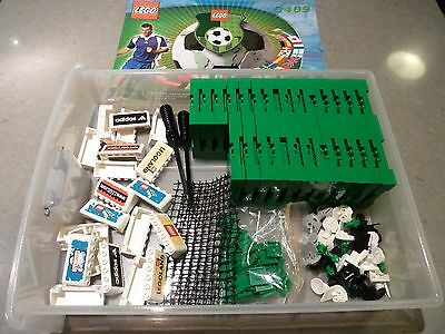 LEGO PART LOT: Soccer Football Parts with Set 3409 Instructions
