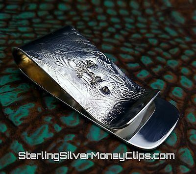 30g Thick EARTH CLASSIC 935 925 Argentium Sterling Silver Money Clip USA