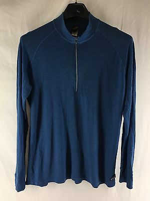 Mens Xl Patagonia Performance Baselayer Lightweight Jacket Blue Outdoor