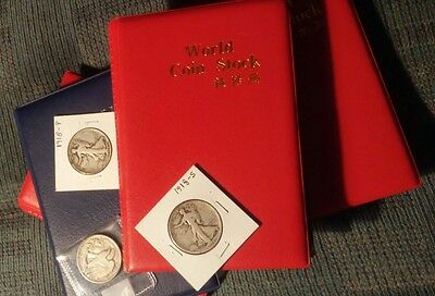 Collection Storage Pockets Money Penny Album Book Collecting 120 Coin Holders
